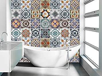Captivating Tiles Stickers Decals   Packs With 48 Tiles (3.9 X 3.9 Inches, Wall Art