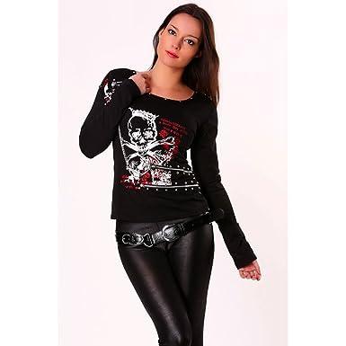 fb4ea928c23 Miss Wear Line - Top noir stylenk rock