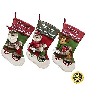 Morbuy Decoracion Calcetines Navidad Hogar, Bolsa de Dulces Interior Exterior Colgantes Año Pared de la Puerta Decoraciones Colgantes (E): Amazon.es: Hogar