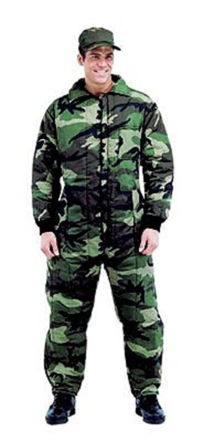Army Universe Woodland Camouflage Insulated Coveralls (Large)  Amazon.ca   Clothing   Accessories fc25a2cd71a