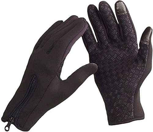 Anself Magic Touchscreen Windproof Warm Gloves Winter Outdoor Cycling Gloves for Snowboard Skiing Riding Cycling Bike Sports Outdoor Winter Thermal Warm Silicone Palm