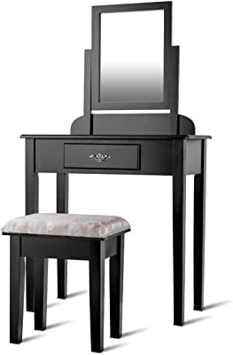 Amazon Com Vanity Set With 3 Fold Mirror Stool And