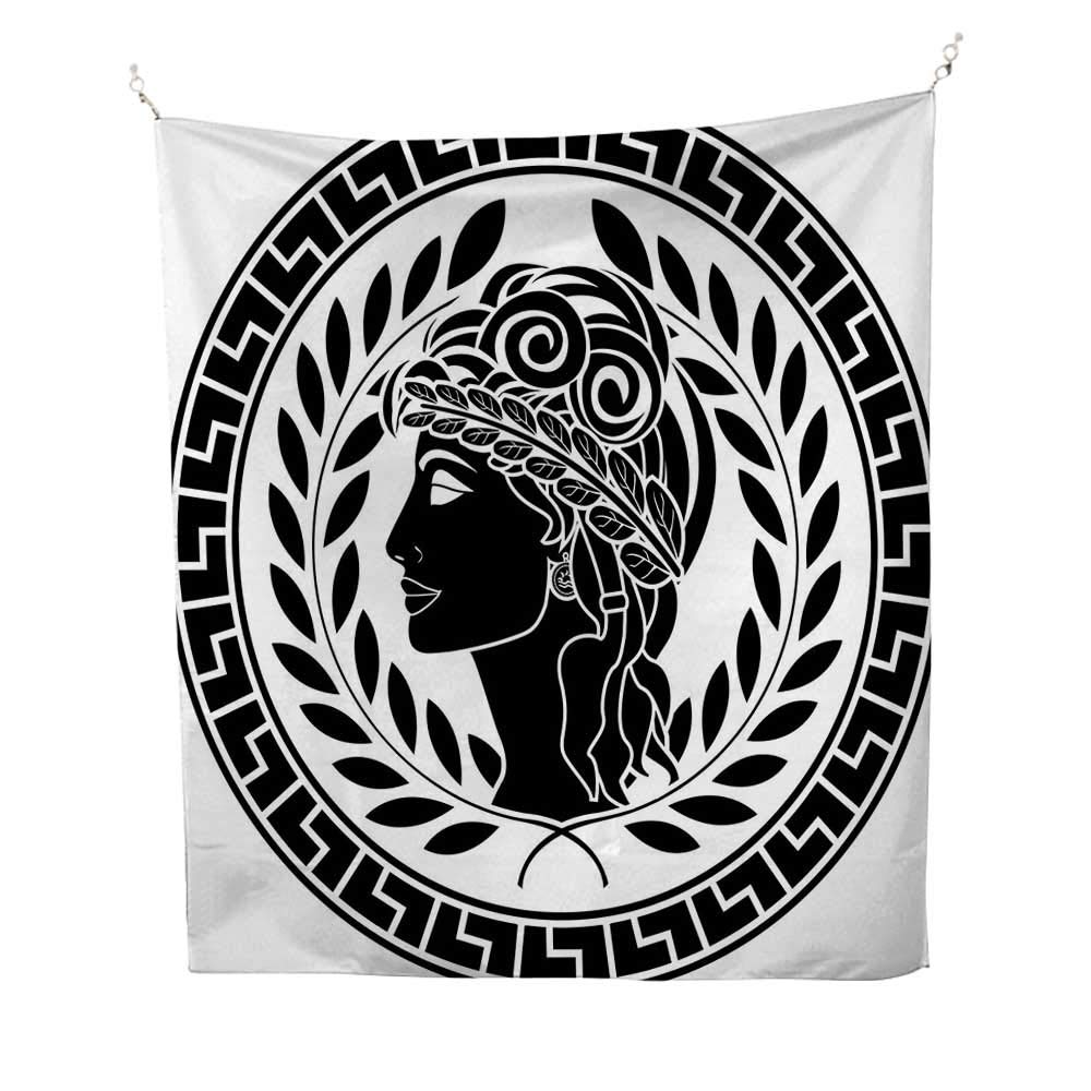 Toga Partyspace tapestryRoman Elegance Beauty Muse Portrait Patrician Woman Old Fashion Aesthetic Icon 54W x 84L inch Wall Hanging tapestryBlack White by Anyangeight