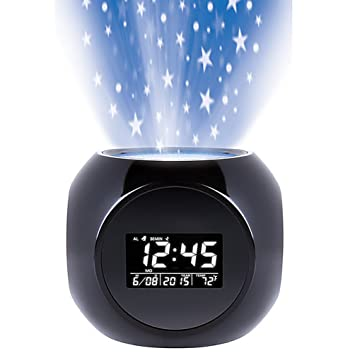 Amazoncom Sharper Image Sound Machine Projection Alarm Clock Home
