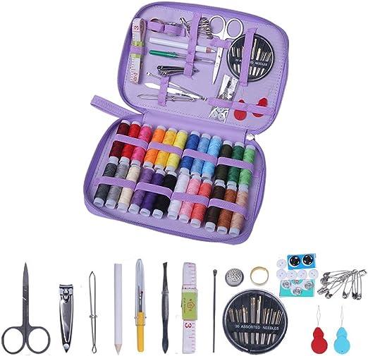 OneMoreT Kit de costura, agujas de rosca tijeras botón ...