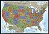 National Geographic RE00622081 United States Decorator - Map