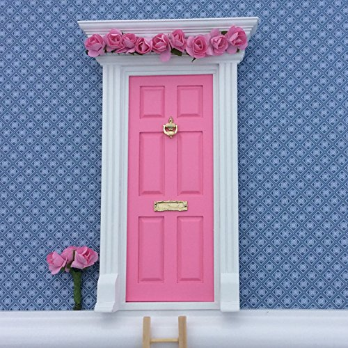 Fairy Door - Best Vintage Rose Bubblegum Pink Magic Door and Ladder Set for Kids Room Perfect for Bringing Fun, Adventure and Magic to Your Home by Magical Little World