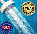 Filtered Shower Head - Hard Water Softener Chlorine Filter - Ionic Shower Head Filter - 2 Replacement Filter Cartridge - High Pressure Shower Head for Massage - Rust Shower Purifier Filtration System