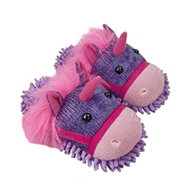 Aroma Home Fuzzy Friends Unicorn Slippers One Size fits ladies up to UK 7