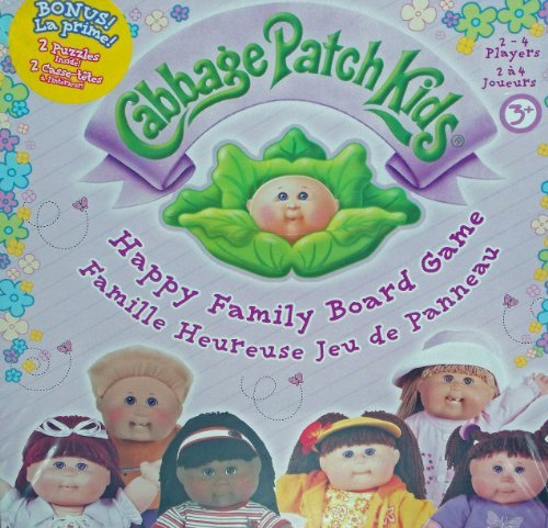 Cabbage Patch Kids Happy Family Board Game with 2 Bonus Puzzles (2005) (Cabbage Patch Puzzle)