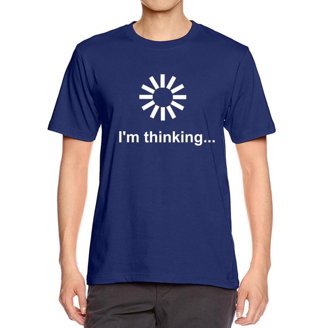 Easytoy I'm Thinking Humor Funny Letter Print T Shirt For Men For Boys