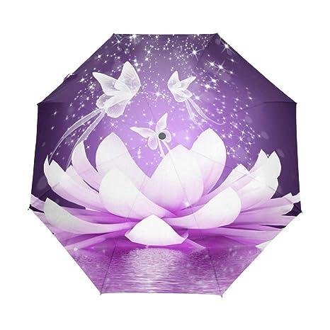 Amazoncom Senya Beautiful Lotus Flower Umbrella Windproof Rain