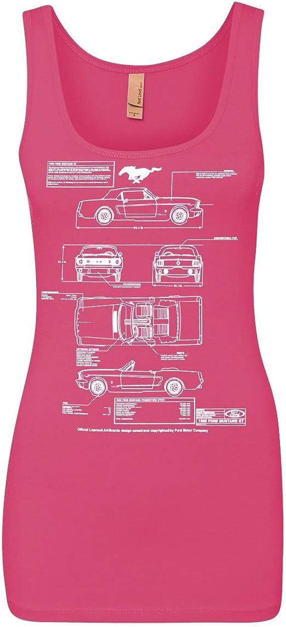 1966 Ford Mustang GT Blueprint Women's Tank Top American Classic Top