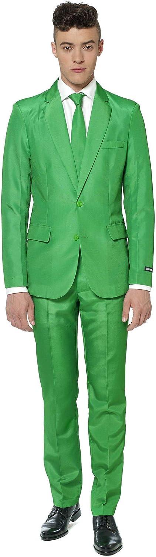 Generique - Traje Mr Solid Verde Suitmeister Hombre XXL: Amazon.es ...