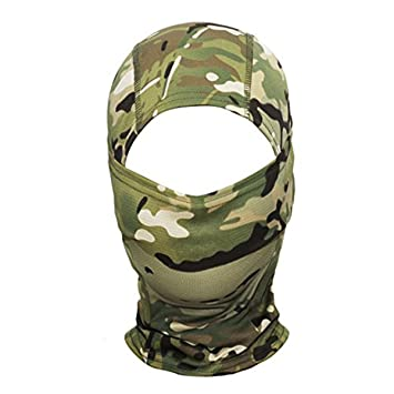 winomo selva camuflaje Hood Full Face Máscara Ninja para Outdoor Ciclismo Moto Caza Military Tactical Casco