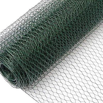 Niederberg Metall Mallas de Alambre | Valla de Tela Metálica | Malla Hexagonal 13x13mm | Valla para Animales y Plantas 25 m de Largo | Altura 50 cm | 0,8mm Revestimiento de PVC Verde: Amazon.es: Jardín