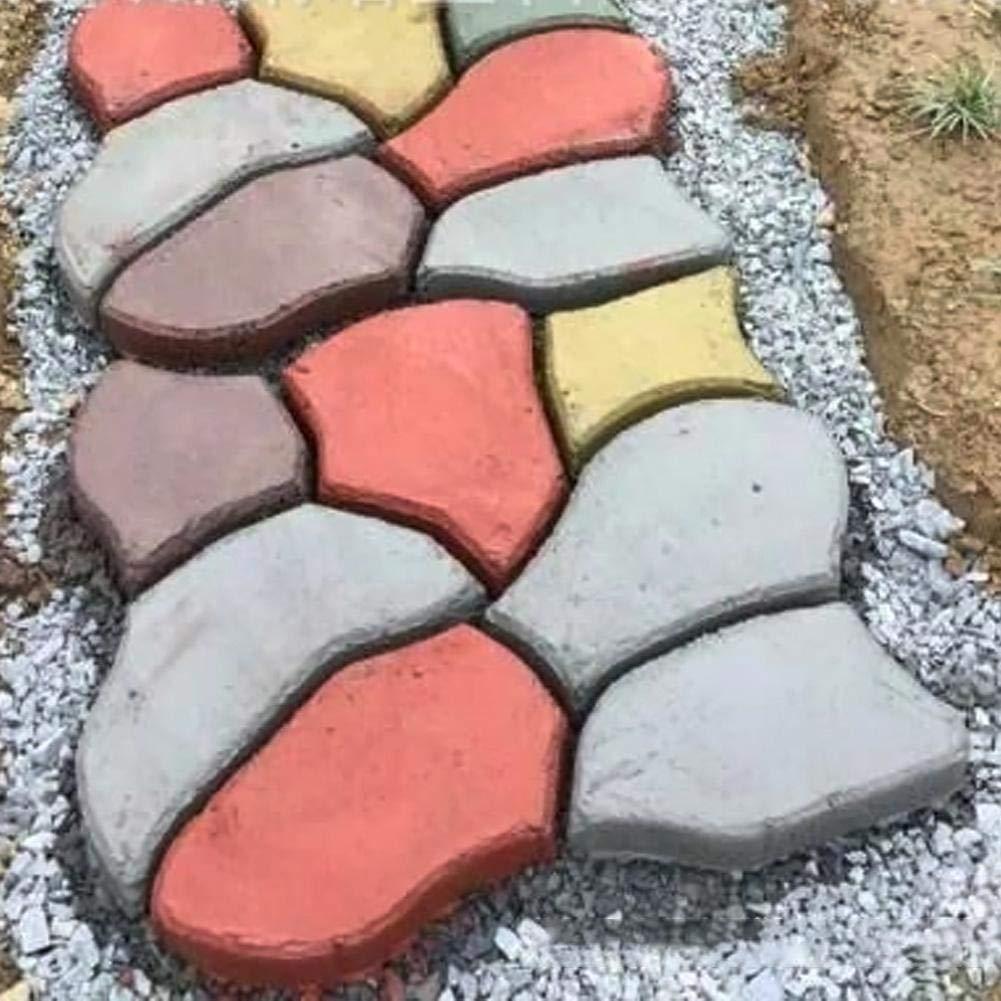 PeHtion Pisos de plástico Pavimento Molde DIY Irregular Jardín Pavimento Molde Pavimento Molde Piedra Molde DIY Walk Maker Material: plástico: Amazon.es: ...