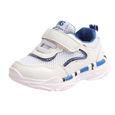29e0ba479f347 Oyedens Mode Unisex Enfants Baskets Garçons et Filles Respirant Maille  Chaussures de Sport Antidérapantes Casual Chaussures