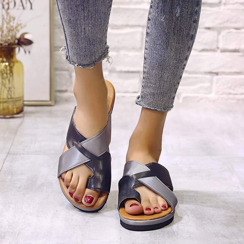 bb260e8860 Amazon.com: Dressin Women's Sandals 2019 New Women Comfy Platform Sandal  Shoes Summer Beach Travel Shoes Fashion Sandal Ladies Shoes: Clothing