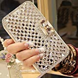 For Galaxy S6 edge Plus case,JANDM 3D Bling Crystal Rhinestone Leather Diamond Rhinestone Luxury Flip Wallet Card Skin Case Cover For SAMSUNG Galaxy S6 edge+ Plus