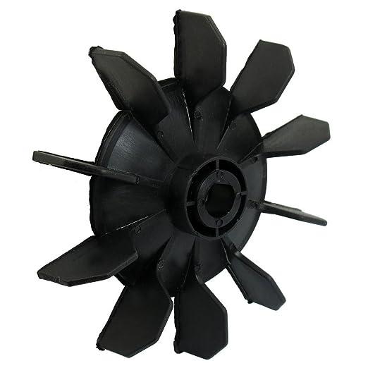 SODIAL(R) Air Compressor Part Black Plastic 14mm Inner Dia. Ten Vanes Motor Fan Blade - - Amazon.com