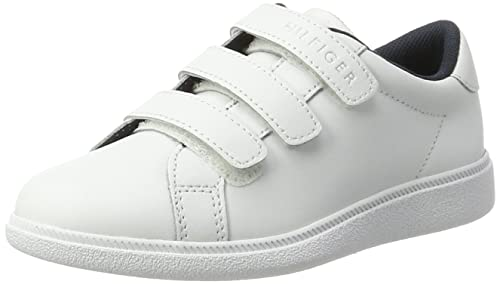 Tommy Hilfiger D3285anny Jr 3a, Zapatillas para Niños, Blanco (White), 35 EU: Amazon.es: Zapatos y complementos