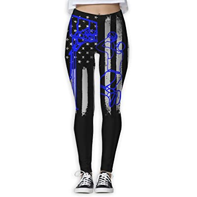 Basketball Player US Flag Women's Compression Pants Sports Leggings Tights Baselayer Trousers For Yoga&Fitness