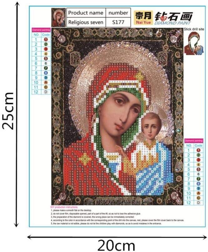 Staron Religious Cross Stitch Kit 5D Diamond Embroidery Painting Accessories Set DIY Art Craft Wall Decor 5D Diamond Painting C