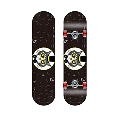 ZZTHJSM Kids Skateboards, Skate Board Beginners, Plain Skateboard, Boys Also Girls Maple Skateboard,11: Home & Kitchen