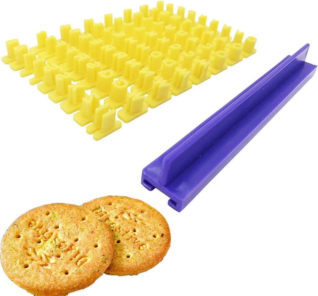 YO-HAPPY Sello para galletas con n/úmero y letra