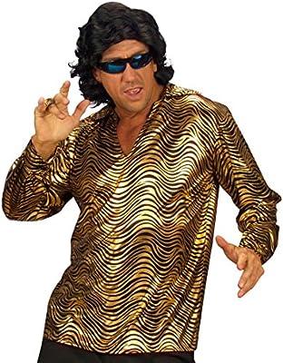 Disco de oro fiebre camisa 70er retro camisa Schlager discoteca fiesta de carnaval tamaño camisa XL 54/56: Amazon.es: Juguetes y juegos