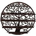 Sorbus Wall Mounted 5 Tier Nail Polish Rack Holder - Tree Silhouette Round Metal Salon Wall Art Display