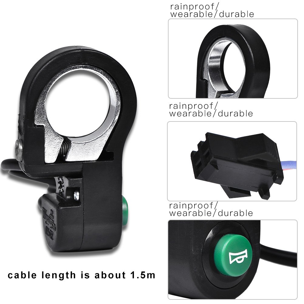 Bicycle Plastic Horn Switch Button Accessory for Electric Bike Scooter