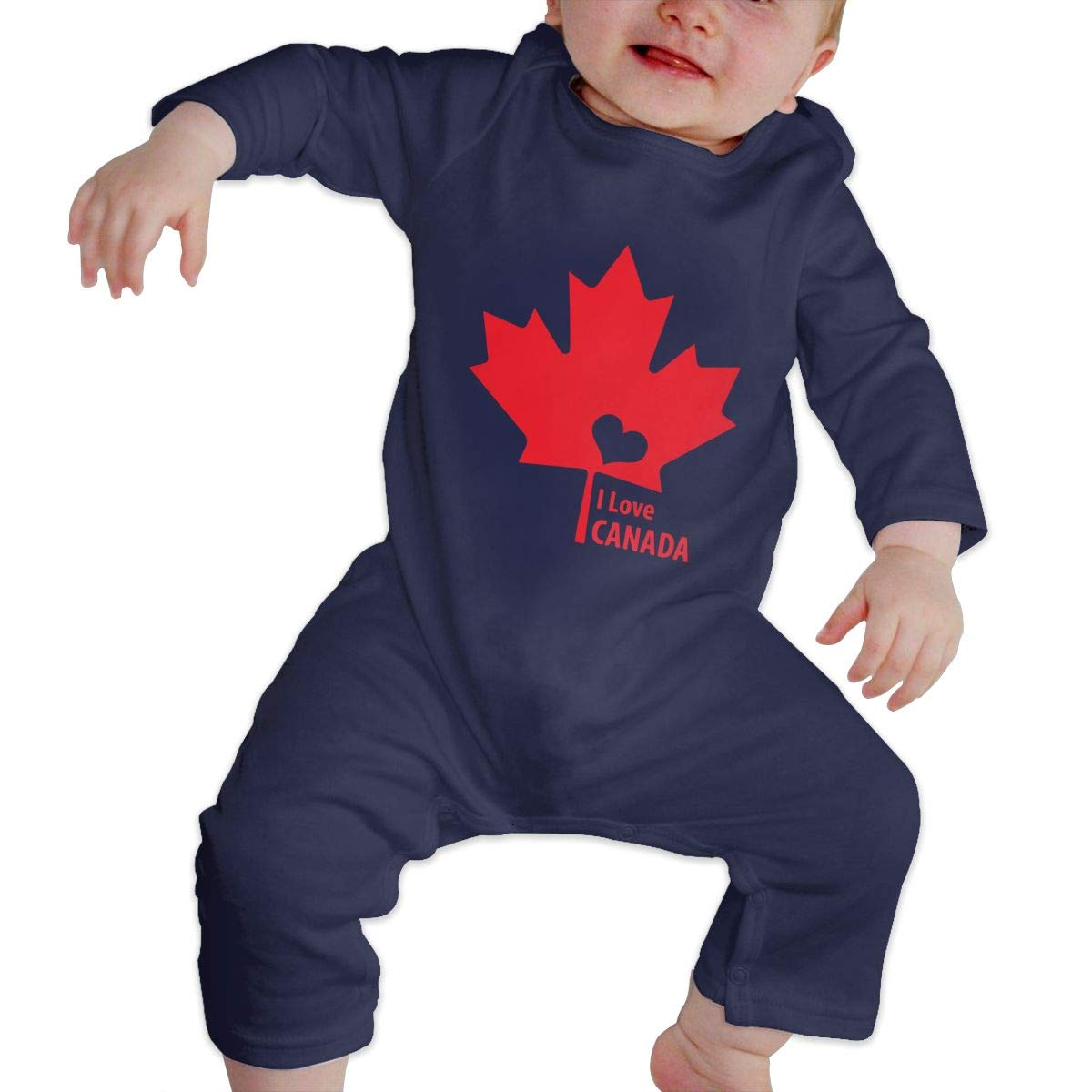 Suit 6-24 Months Toddler Round Collar I Love Canada Long Sleeve Bodysuits 100/% Cotton