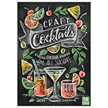 2019 Craft Cocktails — Classic Cocktail Recipes for All Seasons 16-Month Wall Calendar: by Sellers Publishing, 14x10 (CA-0381)