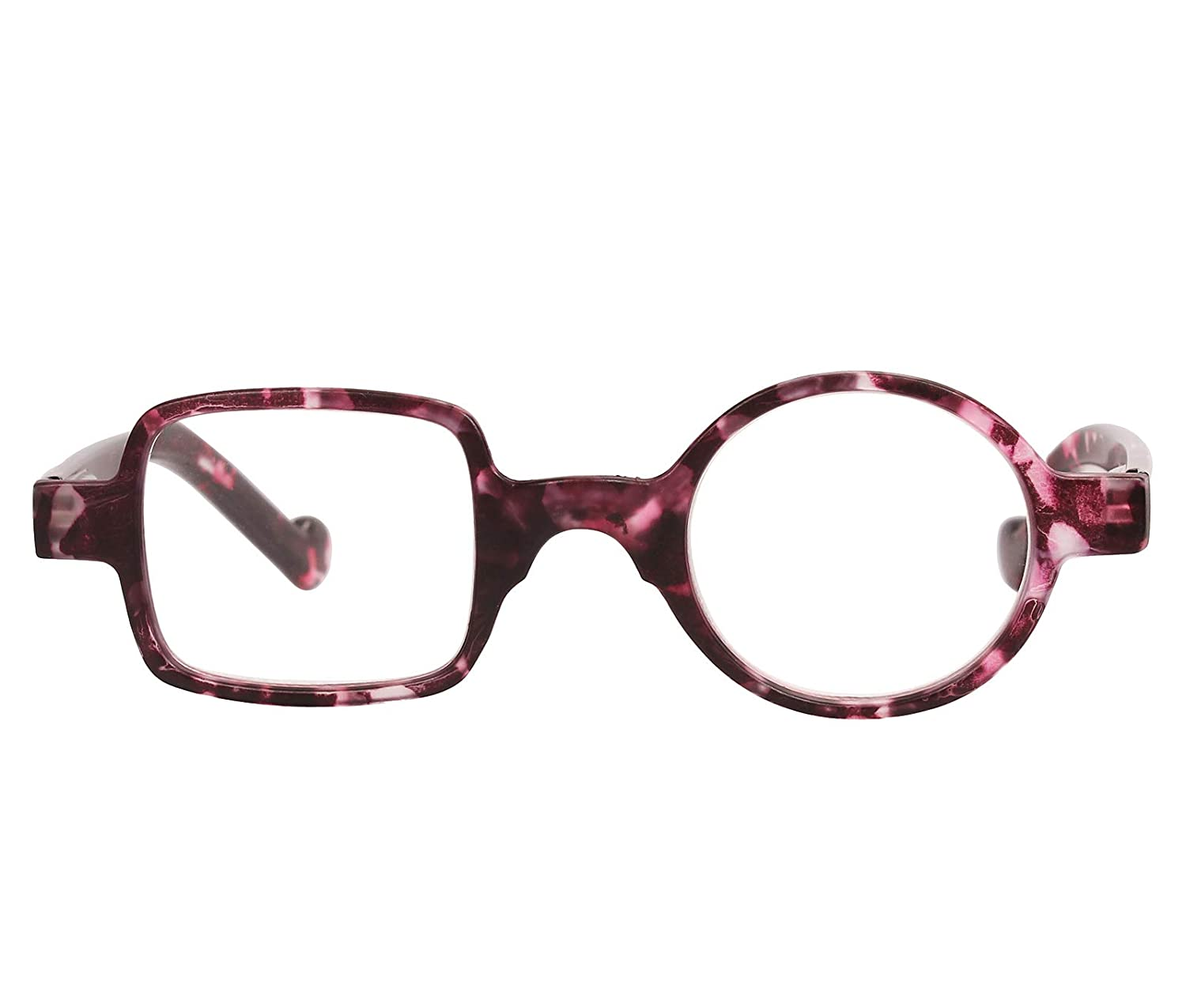 ed05d12ebef Amazon.com  Beison One Square One Round Readers Reading Glasses (Purple  leopard