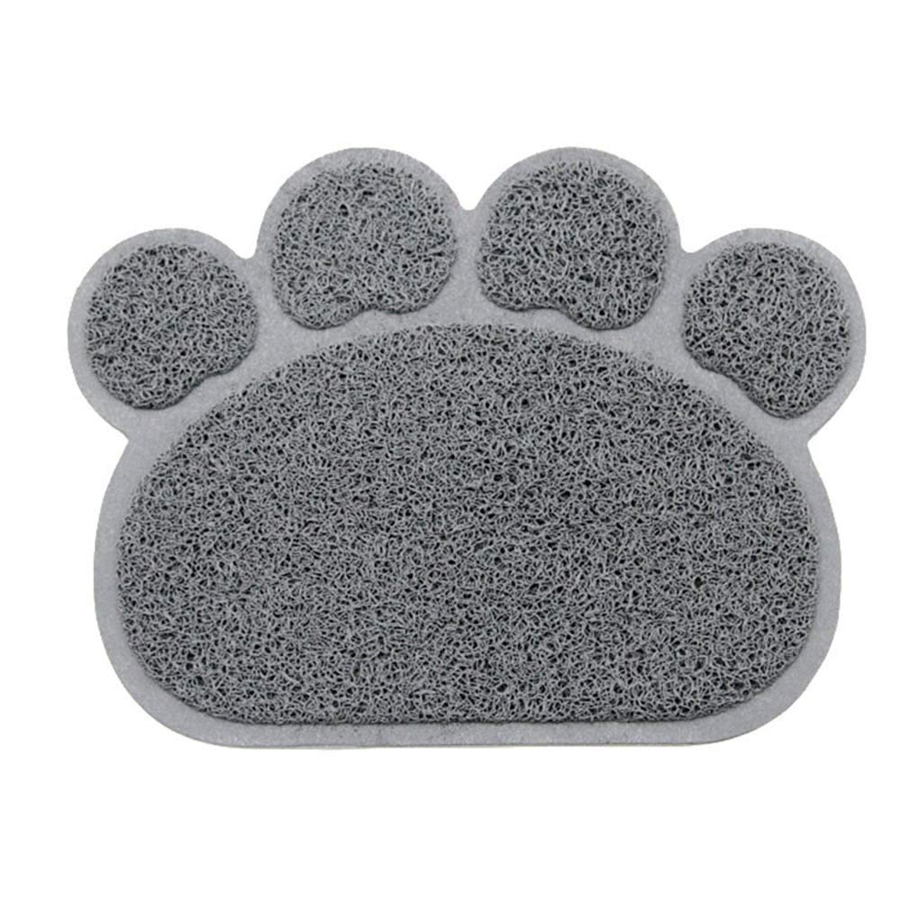 Cat Litter Mat, Paw-Shaped Doormat, Pet Placemat, Dog Feeding Mat, Kitty Litter Rug,Large Pad Easy Clean Non-Slip Predect Floor 2pcs