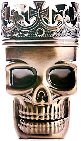 CHAMP Grinder Metall Skull 75 mm Broyeur 3-Part Grinder Amoladora de 3 partes