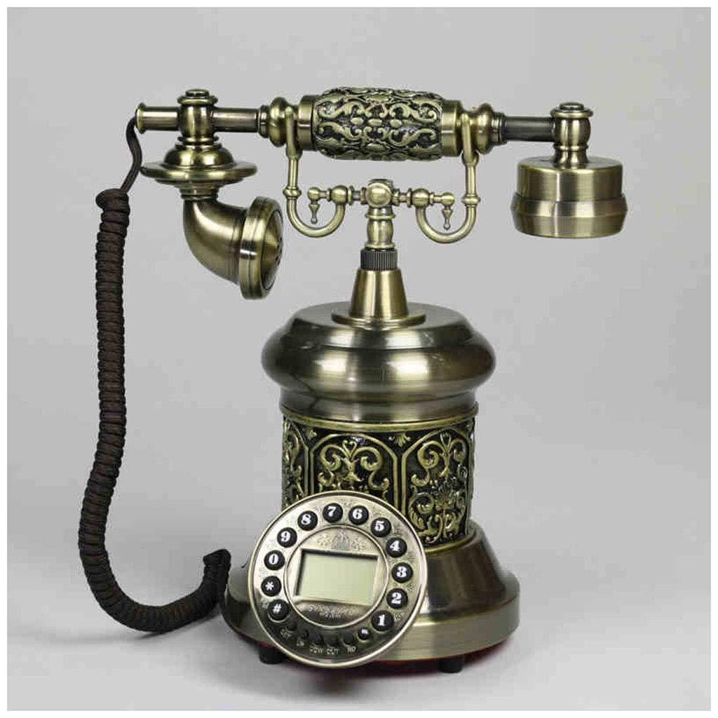 Telephones Carved European Phone Landline Home Fixed Retro Phone Creative Old Antique Button Retro Phone (Size : B)