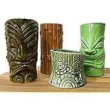 BarConic Tiki Mugs Drinkware Package 4 - Set of 4