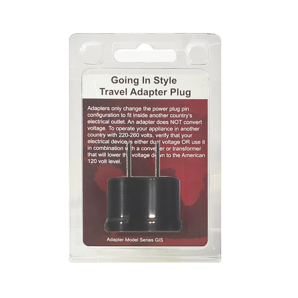 Going In Style Adapter Plug America To Japan Non Wiring 120 Volt Outlet Grounded A Polarized Luggage Accessories Clothing