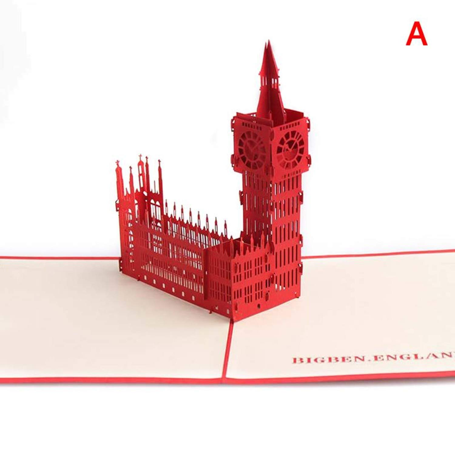 Amazon.com : CHITOP Innovative 3D Building Greeting Card ...