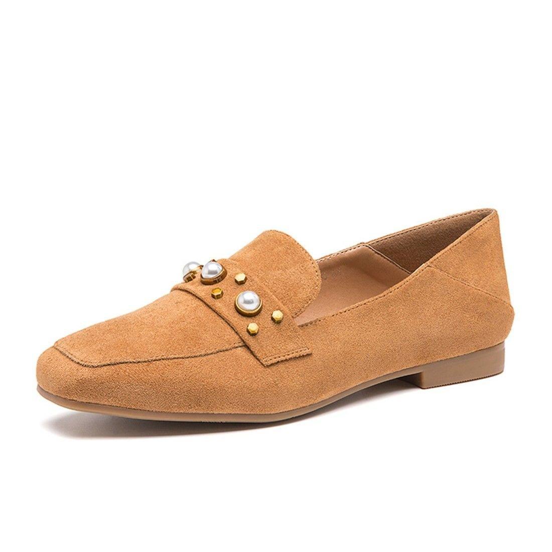 WXMDDN Chaussures pour Printemps Femmes Printemps Europe Chaussures et en Amérique rétro avec Les étudiants avec des Chaussures Plates rétro Chaussures décontractées Jaune 609e161 - epictionpvp.space