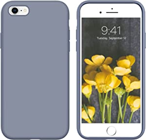 YINLAI iPhone 6S Case iPhone 6 Case Slim Fit Liquid Silicone Soft Rubber Cover Shockproof Protective Non Slip Grip Hybrid Bumper Durable Phone Cases for iPhone 6S/6 4.7 Inch,Lavender Grey