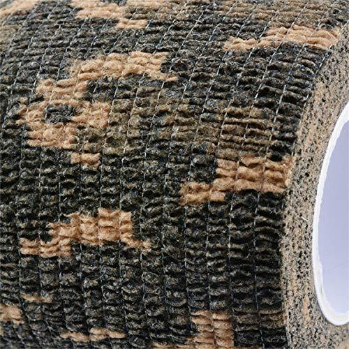 Tornado Camouflage Tape Self-Adhesive Camo Wrap Tape Cling Scope Wrap Military Camo Multifunction for Gun Rifle Shotgun Camping Hunting by Tornado (Image #2)