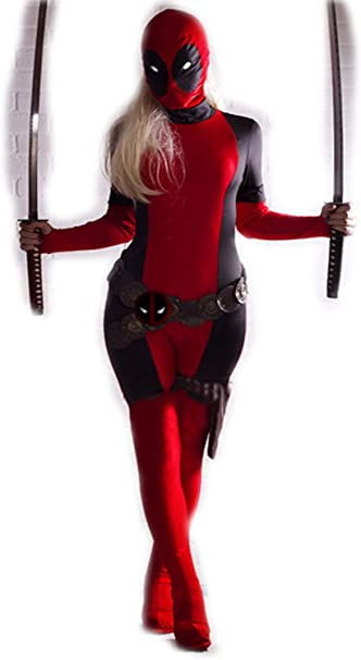 COOL Deadpool Disfraz Adulto Mujer Wonder Zentai Fullbody ...