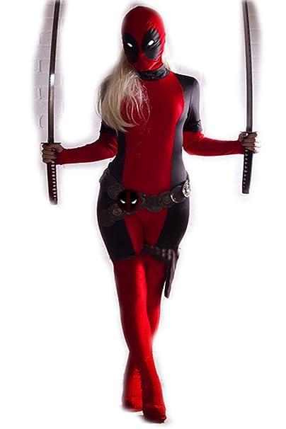 COOL Deadpool Disfraz Adulto Mujer Wonder Zentai Fullbody ...