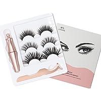LOVING Magnetic Eyelashes False Thick Magnetic Lashes Kit Reusable Natural Eyelashes 3 Pairs Different Style with Tweezers
