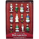 Kurt Adler 12-Piece Petite Treasures Glass Ornament Set