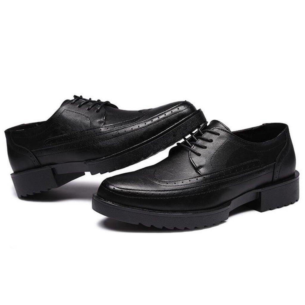 GAOLIXIA Bullock Zapatos para hombres Zapatos casuales con plataforma Zapatos profesionales para trabajo profesional Zapatos cómodos para caminar al aire libre (Color : Negro, tamaño : 44) 44 Negro